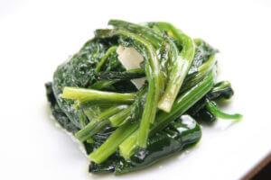エキストラバージンオリーブオイルのお料理、ホウレン草