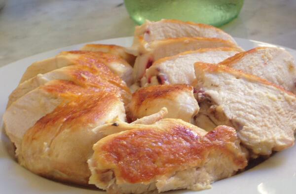 鶏むね肉の塩焼きとオリーブオイル